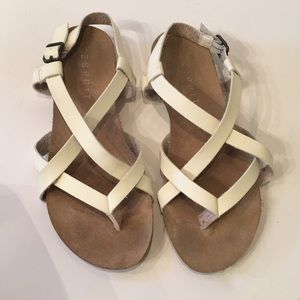 Esprit | LIV | Ivory Strappy Flats
